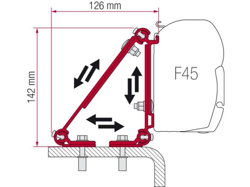 Fiamma Kit Dethleffs Globebus Motorhome F45 F70 Awning Brackets 98655-730