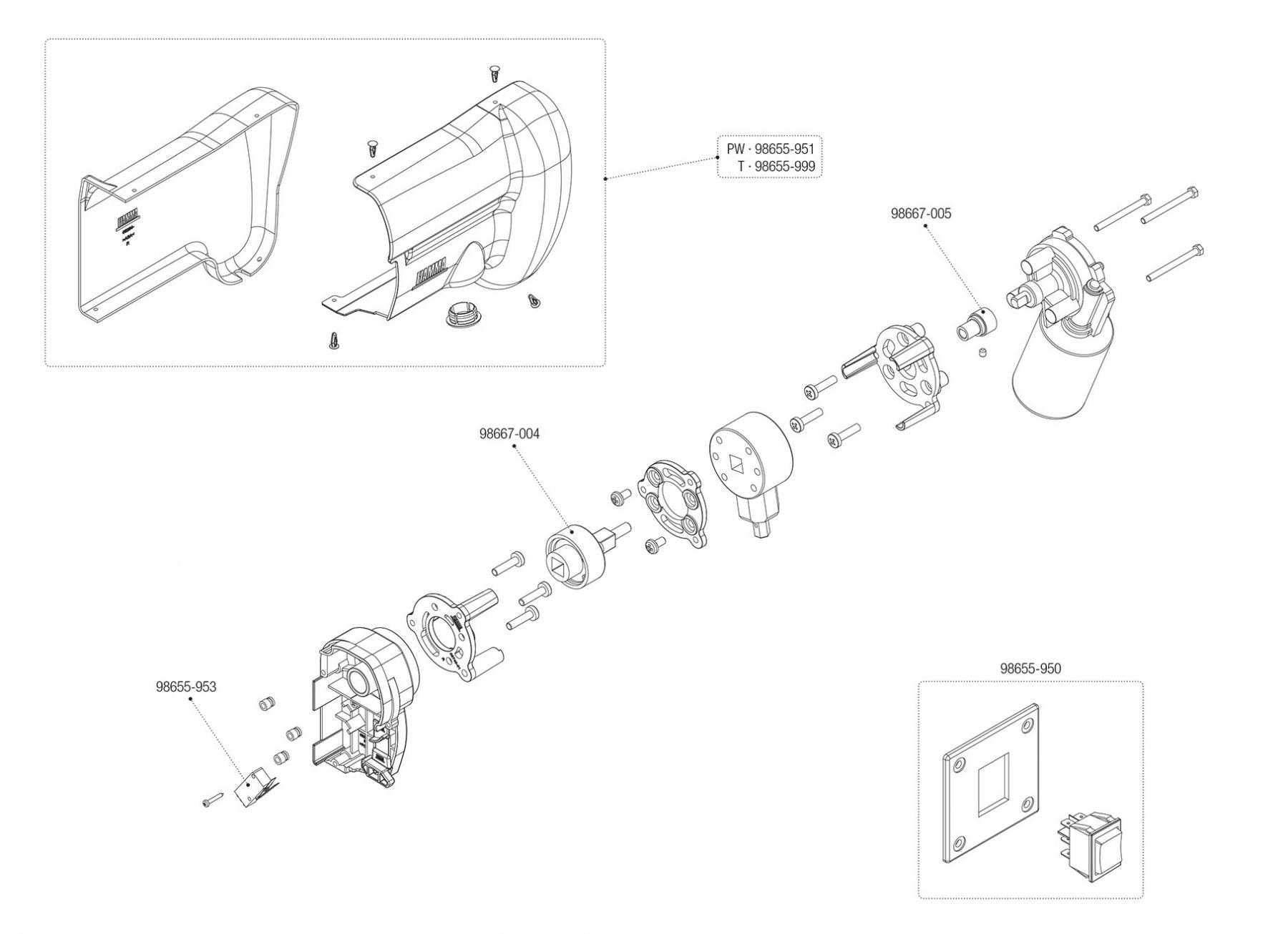 Motor Kit F45s Polar White / Titanium (06275-01- / 06275-01T)