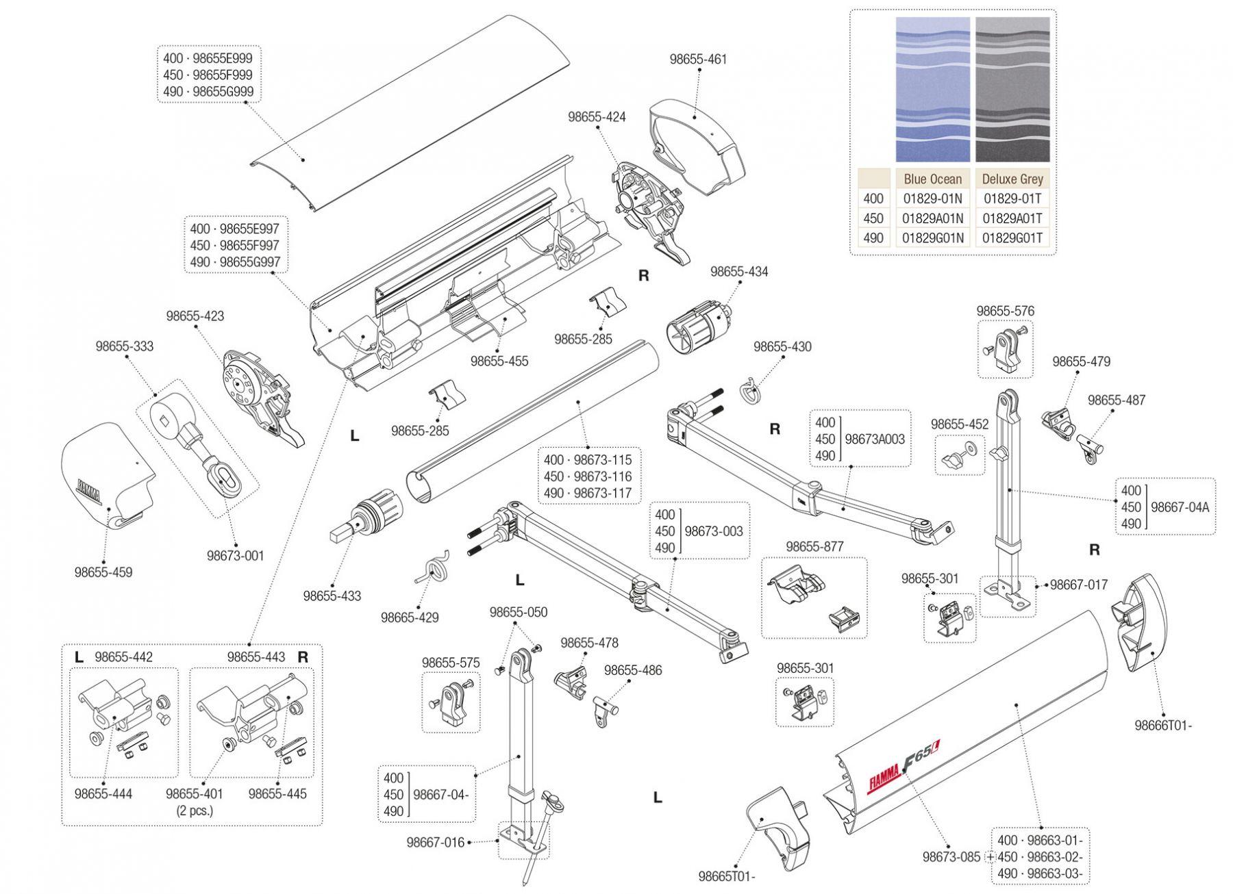 F65 L Titanium 400-490